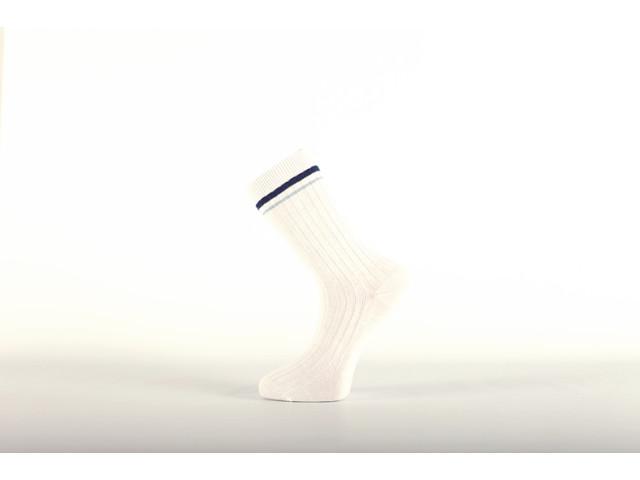 Art. 130 Şosete sport bumbac şi poliamidă-130-m1-alb-bleo-26