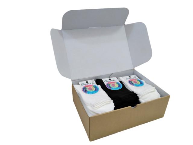 Cutie 25 perechi șosete BUMBAC, Şosete  pentru femei, marime:35-37- model 200