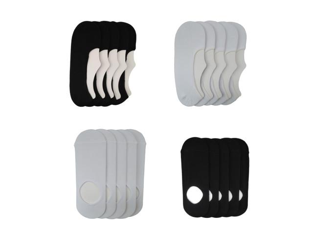Cutie 20 perechi tălpici, Şosete SPORT din bumbac şi elastan, marime 35-37- model 201 si 202