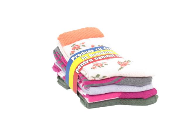 Set 5 perechi, Şosete copii bumbac şi elastan, marime: 22-24 (35-38) - model 326