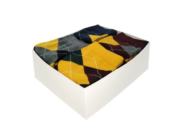 Cutie cadou, set 10 perechi, sosete pentru barbati din bumbac şi elastan, marime: 39-43