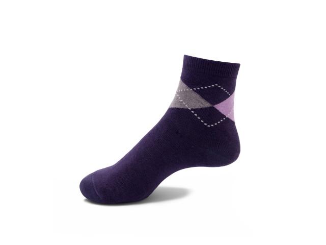 Set 5 perechi, Șosete vesele cu romburi pentru femei - model 221