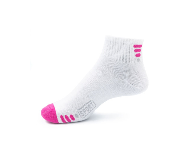 Art. 215 Şosete bumbac şi elastan-215-m6-alb-roz-23-25