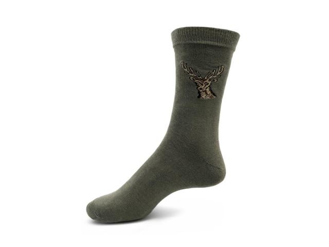 Art. 426 Şosete bumbac şi elastan-426-m1-verde-vanatoare-26-28