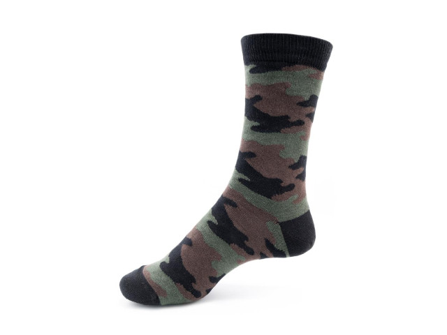 Art. 426 Şosete bumbac şi elastan-426-m1-negru-camuflaj-26-28