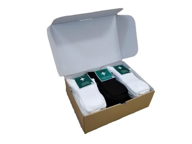 Cutie 25 perechi șosete MEDICINALE , Şosete  pentru femei, marime:38-40 - model 8256