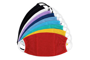 Masca protectie din bumbac in doua straturi-172-m1-color, Set 10 bucati-model 172