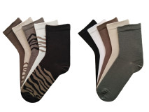 Set 10 perechi, Șosete vesele  si colorate pentru femei - model 221
