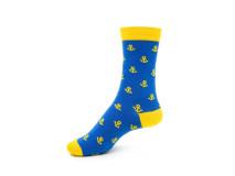 Art. 426 Şosete bumbac şi elastan-426-m32-albastru-26-28