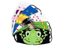 Art. 169 Masca protectie pentru copii din bumbac in doua straturi-169-m1-color, Set 10 bucati